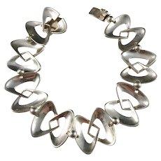 Kaplan, Stockholm year 1953 Mid Century Modern Sterling Silver Bracelet.