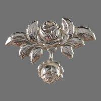 Bernhard Hertz, Copenhagen 1917 Art Nouveau Skonvirke Solid Silver Brooch.