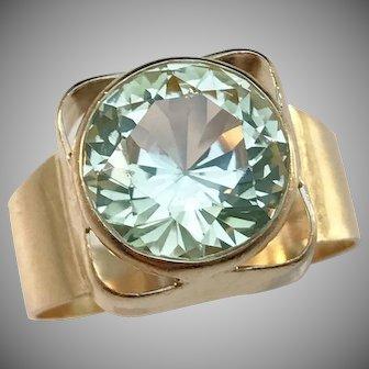 Bengt Hallberg, Sweden year 1971, Modernist 18k Gold Peridot Ring.