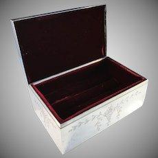 Shreve & Co San Francisco Victorian Sterling Silver Jewelry Casket.