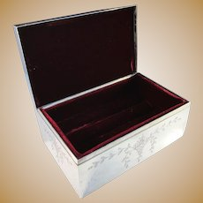 Shreve & Co San Francisco Victorian Sterling Silver Jewelry Casket.