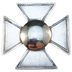 Fredrik Carlsson, Sweden year 1943 Solid Silver WW2 Nurse Badge Brooch.
