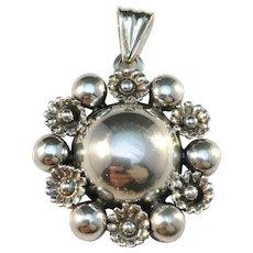 Per Ericson, Sweden year 1953 Mid Century Sterling Silver Pendant.
