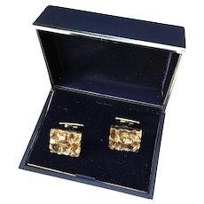 Bengt Hallberg Sweden year 1969 Gold Washed Sterling Silver Boxed Cufflinks.