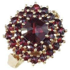 Heribert Engelbert Stockholm 1930-40s 18k Gold Garnet Ring.
