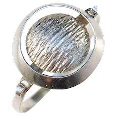 Victor Janson, Sweden year 1972 Modernist Sterling Silver Open Close Bangle Bracelet.