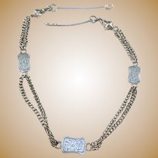 Sweden year 1869 Victorian Sterling Silver Chain.