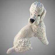 Fritz Heidenreich for Rosenthal Mid Century Porcelain Poodle Figurine