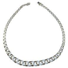 Olof Pettersson, Stockholm 1970s Sterling Silver Bismark Necklace