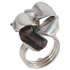 Robbert, Sweden year 1972 Modernist Sterling Silver Ring.