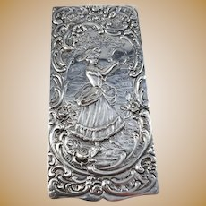 Belgium Early 1900s 835 Silver Repousse Trinket Box.
