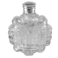 Victorian Silver Top Glass Perfume Bottle. Provenance