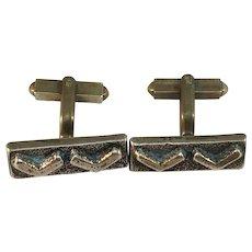 Eric Scott Robbert, Sweden 1960s Bronze pair of Cufflinks.