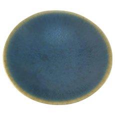 Per Linnemann-Schmidt, Palshus Denmark 1950-60s Stoneware With Matte Haresfur Glaze Small Bowl Dish