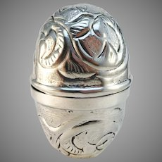 Georgian 1730-50s Rococo Sterling Silver Egg Cup