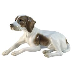 "Max Fritz, Rosenthal 1930s Art Deco Pointer Dog Large 7.8"" Figurine"