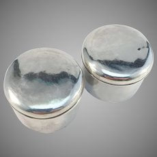 CPB, Sweden year 1864 Victorian Sterling Silver Dressing Table Trinket Boxes.