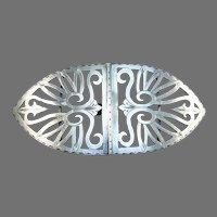 H Fisher, Copenhagen c 1900 Art Nouveau 826 Silver Huge Belt Buckle