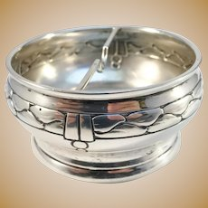 Grann & Laglye, Denmark year 1914 Arts and Crafts Sterling Silver Ashtray
