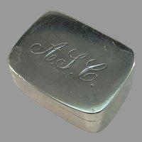 Stockholm Sweden 1830s Antique Solid Silver Vinaigrette Box.