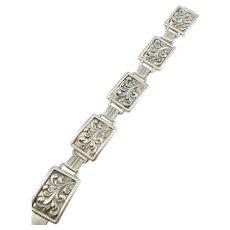 Martin Elmblad, Stockholm 1948 Mid Century Chunky 2.2oz Solid Silver Bracelet.