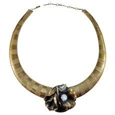 Ermani Bulatti, Vintage Art Deco Revival Costume Jewelry Necklace