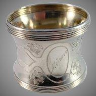 Bernhard Hertz, Copenhagen c year 1900 Solid Silver Memory Napkin Ring