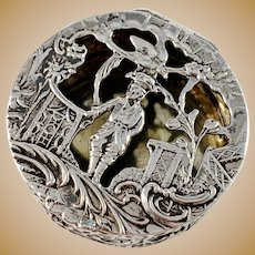 Simon Rosenau, Bad Kissingen Germany c 1890 Antique 800 Silver Box.