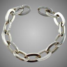 Swedish Import 1960s Chunky 835 Silver Bracelet