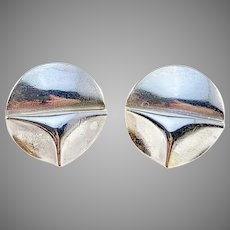 Bjorn Weckstrom for Lapponia, Finland year 1975. Sterling Silver Stud Earrings. Design: Southern Triangle.