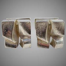 Björn Weckström, Lapponia, Finland 1971 Modernist Sterling Silver Cufflinks. Design Polar Ice