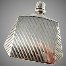 Egon Lauridsen, Denmark 1930s Art Deco Sterling Silver Perfume Bottle. Provenance
