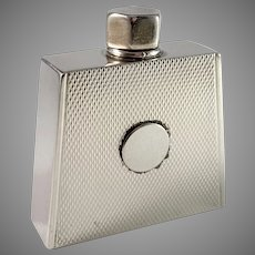 Hansen & Andersen Denmark 1930s Sterling Silver Art Deco Perfume Bottle. Provenance