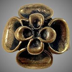 Hannu Ikonen Finland 1970s Reindeer Moss Design Bronze Ring.