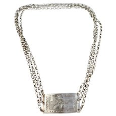 Petter Wikström, Sweden year 1811 Georgian Solid Silver Traditional Engagement Choker Necklace.