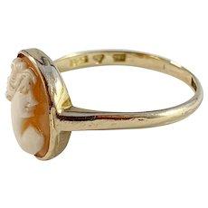 G Dahlgren year 1920, 18k Gold Cameo Memory Ring.