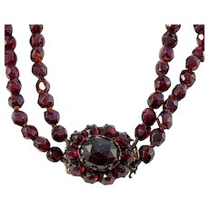 Georgian or early Victorian Bohemian Garnet Necklace.