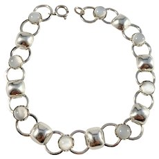 Sweden year 1962 Sterling Silver Moonstone Bracelet.