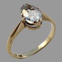 KA Danielsson, Stockholm year 1924, 18k Gold Paste Stone Ring.