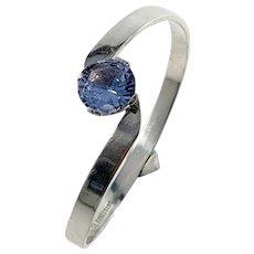 Per Dahlqvist, Gothenburg year 1969 Sterling Silver Synthetic Spinel Bangle Bracelet.