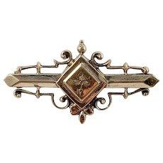 Germany c year 1900 Edwardian 830 Silver Brooch.