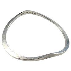 Rey Urban, Sweden Vintage Sterling Silver Bangle Bracelet. Signed.