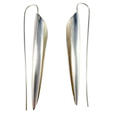 David-Andersen, designer Ingjerd Hanevold, Norway Huge Sterling Silver Earrings. Excellent.