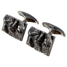 Alpo Tammi, Finland year 1969 Modernist Brutalist Solid Silver Cufflinks.