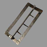 Henrik J Ljungqvist, Sweden 1819-51 Solid Silver Belt Buckle. Charming Engraving. (Used as a pendant)