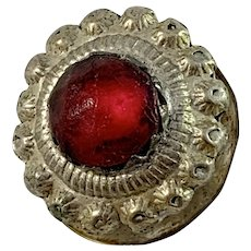 C Thulin, Sweden year 1822-55 Solid Silver Paste Stone Stud Button.