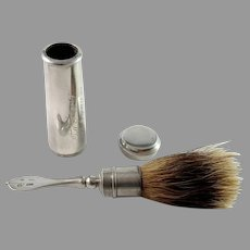 J Carlsson, Sweden year 1843 Antique Solid Silver Shaving Brush.