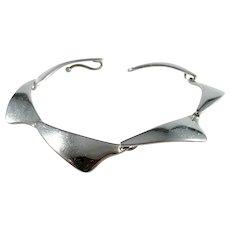 Aarre & Krogh, Denmark 1960s Sterling Silver Panel Bracelet