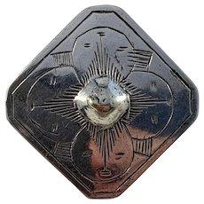 Jöns Petter Larsson, Sweden 1817-32 Georgian Solid Silver Brooch Pin.