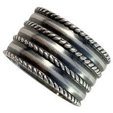 David-Andersen, Norway 1960s Sterling Silver Viking Copy Unisex Ring. Saga Series.
